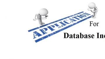 Application for Database Inclusion